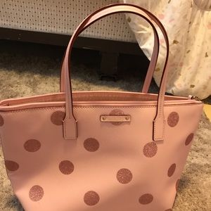 Kate Spade Sparkle Pink Polka Dot Purse